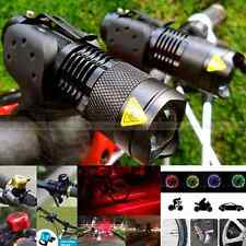 Cree Q5 LED Torch Cycle Bike Bicycle Laser Head Lamp Front Light Solar Taillight