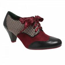 Poetic Licence Womens End of Story Black/Red Mid Heel Shoe Boot