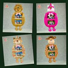 2er cuddly photo frame plush material for photo 10x15 cm with 4 designs