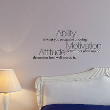 Ability is what you're capable of doing - Famous Vinyl Wall Quotes Decals