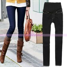 Fashionable Skinny Maternity Women Slim Jeans Size M/L/XL/XXL Blue/Black atst