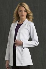 "Peaches Med Couture Lab Coat 8660 30"" Two Button Labcoat Women's"