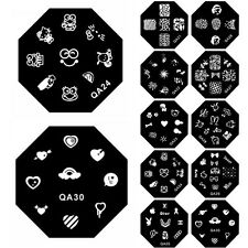 1PC Nail Art Image Stamp Stamping Plate Manicure Template DIY Decoration QA21-30
