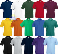 Polo da Uomo/Man FRUIT OF THE LOOM a Manica Corta S M L XL XXL XXXL in 15 COLORI