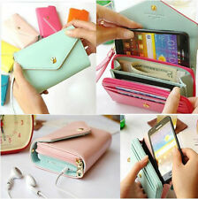 Crown Smart Pouch Multi propose envelope Purse Wallet For Galaxy S2 S3 i_Phone