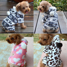Pet Dog Cat Cute Warm Hoodie Clothes Autumn Winter Coat Puppy Costumes Apparel