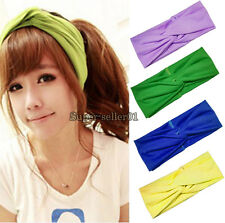 16 Colors New Fashion Turban Twist Headband Head Wrap Soft Hairband For Women