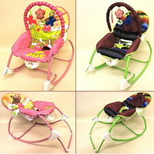 Baby Rocker Bouncer Chairs, Music & Vibration 2 Designs & Retractable CANOPY