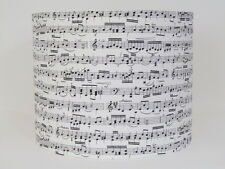 HANDMADE PIANO MUSIC NOTES BLACK CREAM 20CM 30CM LAMPSHADE LIGHTSHADE NOVELTY