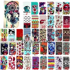 Painting Anchor Wallet PU Leather Card Holder Flip Case Cover For Samsung i8190