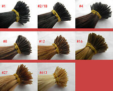 """200S 18"""" 100% Remy Human hair extensions Keratin Stick tip I-tip + micor beads"""