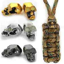 GLOW IN THE DARK Paracord Skull Beads - 550 Bracelets Lanyards Necklace Counter