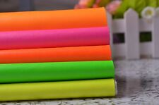 Fat Quarter Neon Solid Leather Fabric For Home Decor Upholstery,PU Zakka Fabric