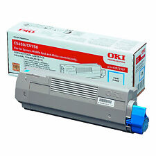 BRAND NEW GENUINE OKI 43872307 CYAN ORIGINAL LASER TONER CARTRIDGE