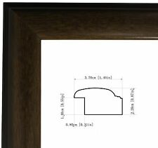Picture Frame Mahogany Wood  For Poster Diploma Photo  Arts Canvas Custom Sizes