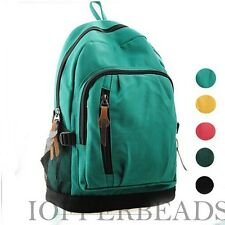Cute Unisex Vintage Canvas Satchel Backpack Rucksack Shoulder School Bag
