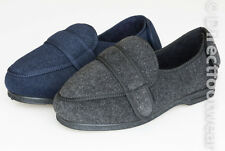 Mens Coolers EEE Fitting Wide Orthopaedic Velcro Fastening Slippers Shoes