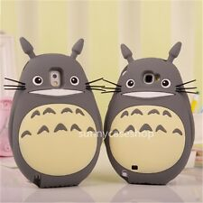 Cute My Neighbor Totoro gray Soft Silicone Case cover for Samsung Galaxy Note2 3