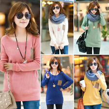 Fashionable Winter Turtle Neck Loose Knit Wear Long Sleeve Womens Sweater
