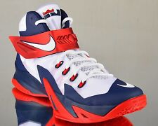 Nike Zoom Soldier VIII 8 USA Home men basketball sneakers NEW white red obsidian