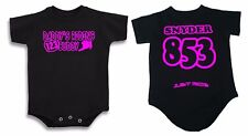 DADDY'S RIDING BUDDY SHIRT BABY INFANT CREEPER NUMBER PLATE SUPERCROSS MOTOCROSS