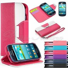 Flip Hybrid PU Leather Wallet Case Stand Cover For Samsung Galaxy S3 Mini i8190