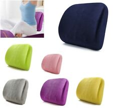 Memory Foam Cushion Back Lumbar Support Slow Rebound Pillow for Car Home Office