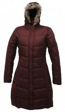 Regatta Blissful Womens Longer Length Padded Fur Trimmed Padded Jacket Burgandy
