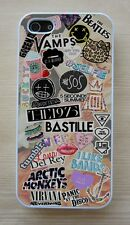 Vintage Floral Arctic Monkeys,5 SOS,Music Collage Case For iPhone 4/4S 5/5S,5C