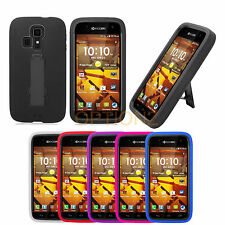 For Kyocera Hydro Life C6530 Rugged Impact Hybrid Hard Case Cover Stand + Screen