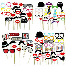 DIY A Stick Mask Photo Booth Props Mustache lip Glasses Wedding Birth Party Gift