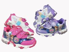 New Frozen Princess Elsa & Anna PU Leather Girls Shoes Kids Sneakers Cosplay