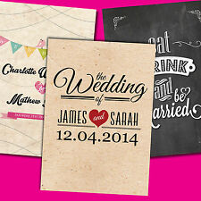 Personalised Wedding Invitations with Envelopes ★Day & Evening★ Double Sided