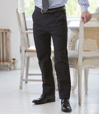 Henbury 65/35 Flat Fronted Chino Trousers Adult - Sizes 30/R - 44/U