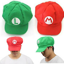 Super Mario Hat Super Mario Bros Unisex Cap Cosplay Red and Green for Sale