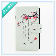 2014 hot sale Chinese culture plum blossom fish PU leathe flip for SONY Xperia