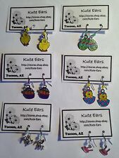 Bunny & Spring Time Fun Dangle Earrings-Free Shipping-Various Designs - Easter