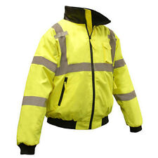 High Visibility Class 3 Safety Bomber Jacket - Lined