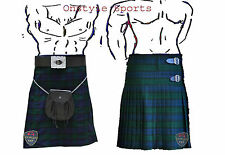 Onstyle Scottish Highland Active Men Utility Sports Black Watch Tartan Kilts