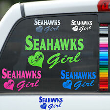 Seahawks Girl Vinyl Car Window Sticker Decal Truck Tablet Laptop Auto Helmet