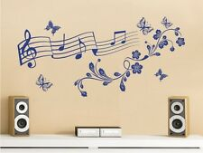 Wall Tattoo Wall Sticker Wall Decal Musical Notes Music Butterflies Tendril 01