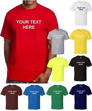 CUSTOM Personalized TEXT ANY COLOR Name Business Name Family Event TEAM T-SHIRT