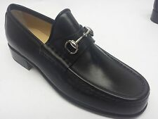 Gucci Mocasino Pelle Mors Womens Leather Moccasins Shoes Flats Loafers ITALY 14L