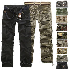 Trousers New Men's Cargo Casual Army Camo Pants Cotton Military