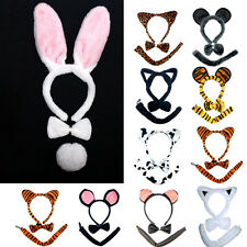 Girl's Cute Animal Headband Ear Tail Bow Party Costume Fancy Hairband Jewelry