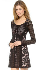NWT $398.00 Nanette Lepore Bombshell Dress Black Lace Sizes 6 8