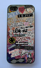 Vintage Floral 5SOS, Arctic Monkeys Music Collage Case For iPhone 4/4S 5/5S,5C