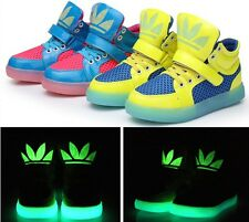 New Children Luminous Boys  Girls Children Shoes Kids Sneakers Sport Shoes 26-37