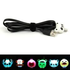 Cute LED Light Animal Micro USB Data Sync Charger Cable Cord For Samsung HTC LG