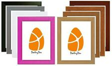 A4 A3 A2 A1 WOOD WOODEN PICTURE POSTER PHOTO FRAME 9 VARIOUS COLOURS Stand Hang